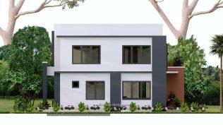 Small House Plan 11x15 M 36x49 Feet 5 Beds Full Plan Back