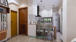 Small House Plan 4x7 M 13x23 Feet 2 Beds PDF Plan 3d dining room