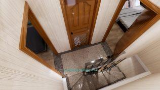 Small House Plan 4x7 M 13x23 Feet 2 Beds PDF Plan 3d stair