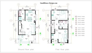 Small House Plan 4x7 M 13x23 Feet 2 Beds PDF Plan Layout plans 4x7 small house design