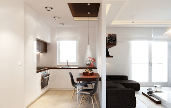 Small Living Room And Kitchen Design Combo Ideas