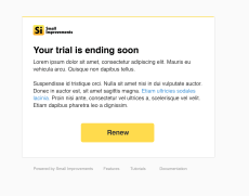 Trial is ending email