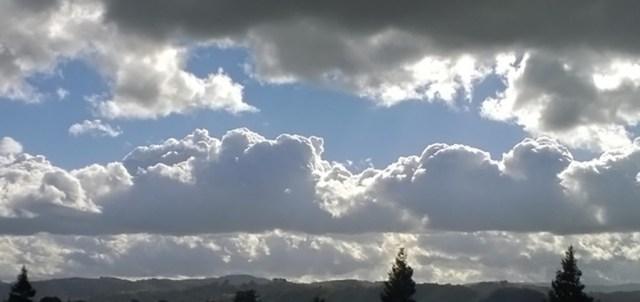 Cloudy Sky Over Montara CA