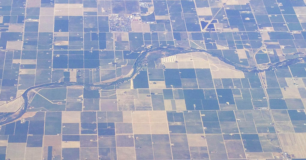 Crop Squares from an Airplane