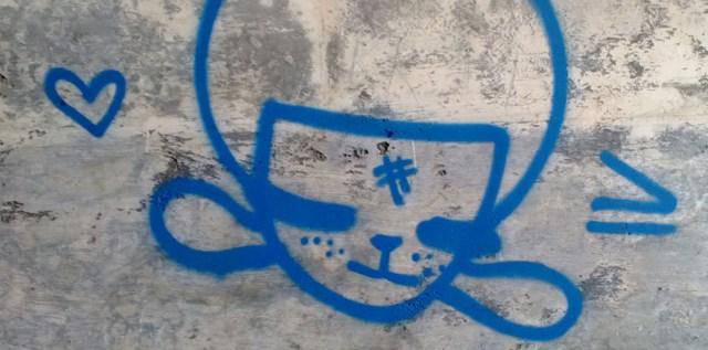 Graffiti Marin Headlands Park CA