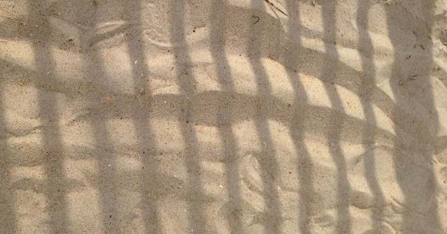 Fence Shadows on Sand OBX NC