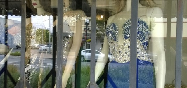 Mannequins Behind Glass Gilroy CA
