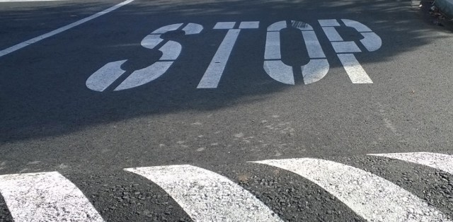 Stop Sign and Speed Bump Ashland OR