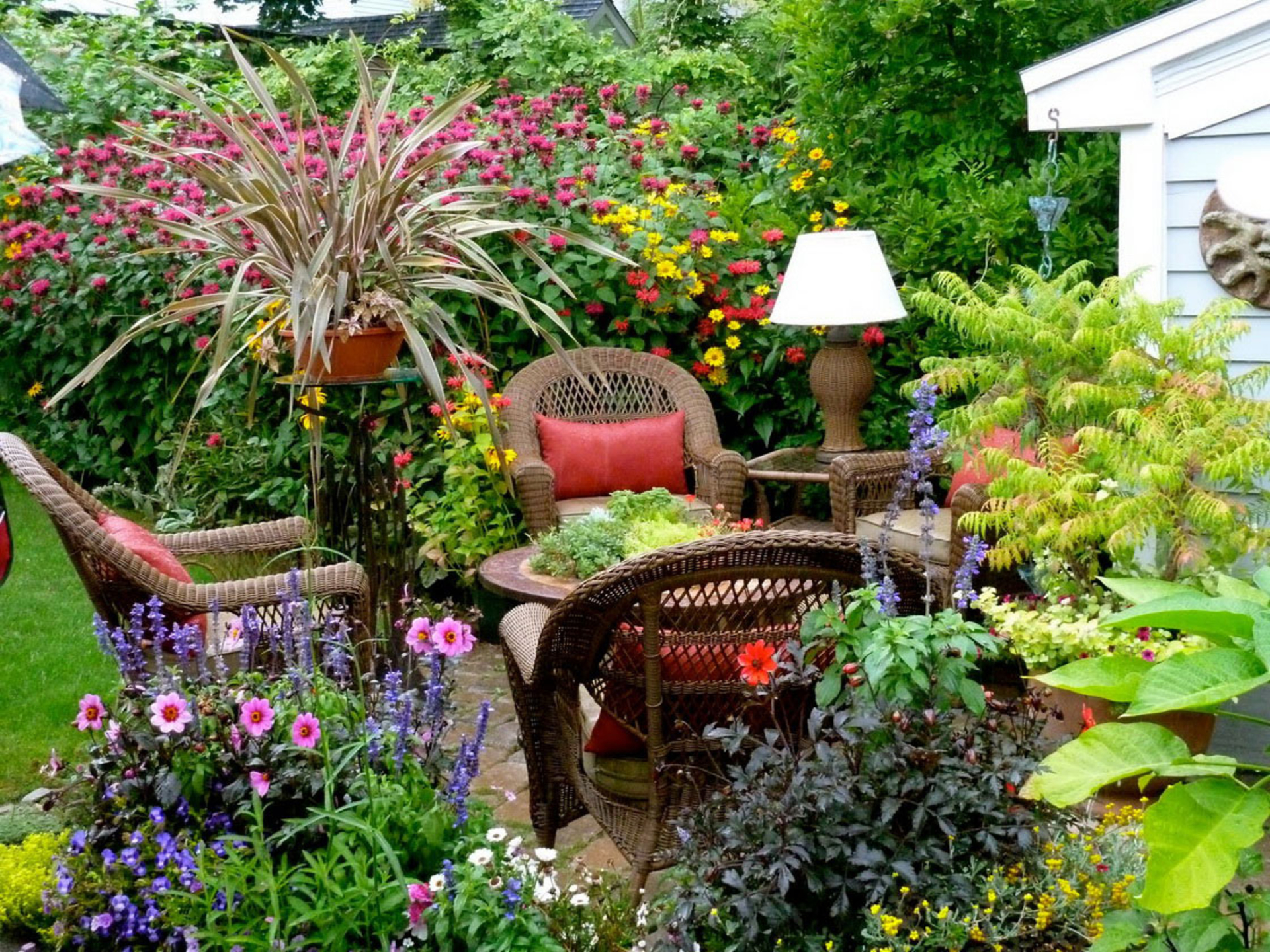 Small Gardens Are Beautiful - And Low Maintenance ... on Stunning Backyards  id=16158