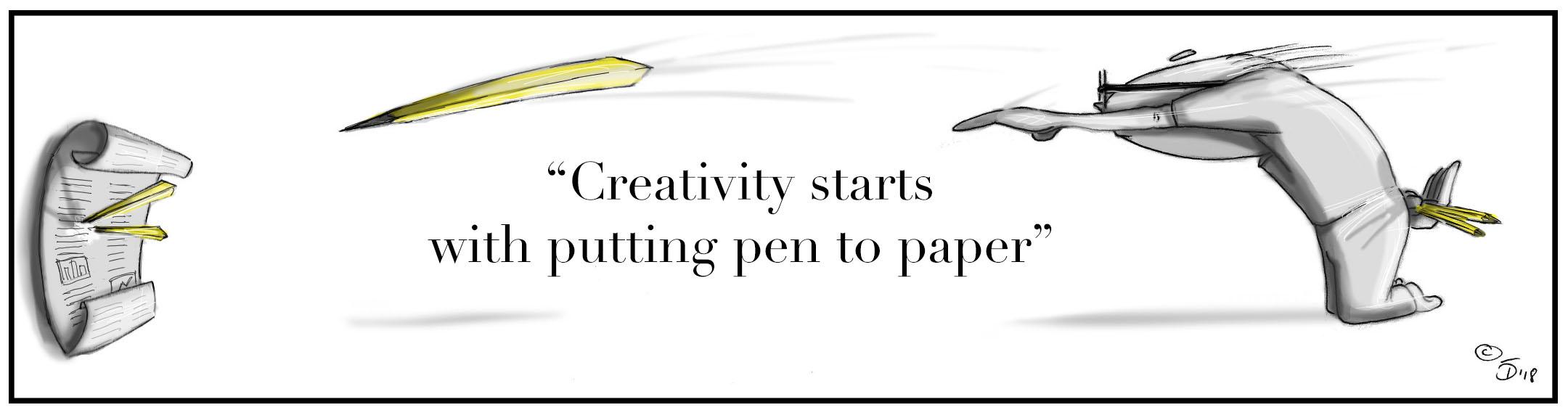 """Creativity Starts"" by Tom Deisboeck"