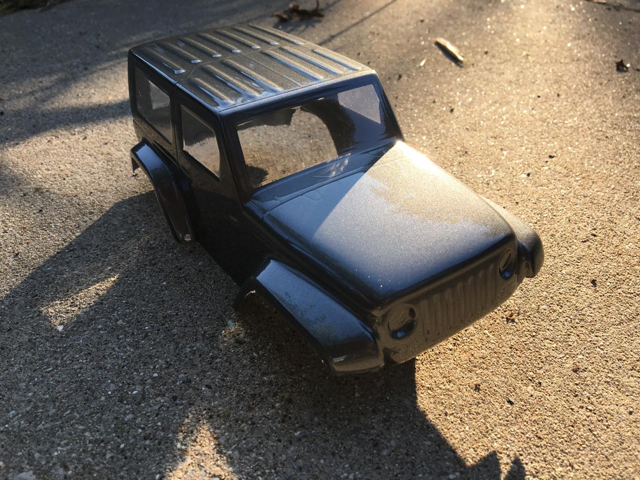 Pro-Line's Ambush 4x4 Jeep body shining in the sun.