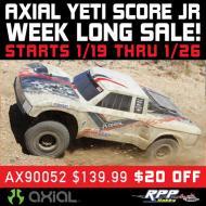 RPP Hobby's Week-long Axial Yeti Jr. Sale (1/19 – 1/26)