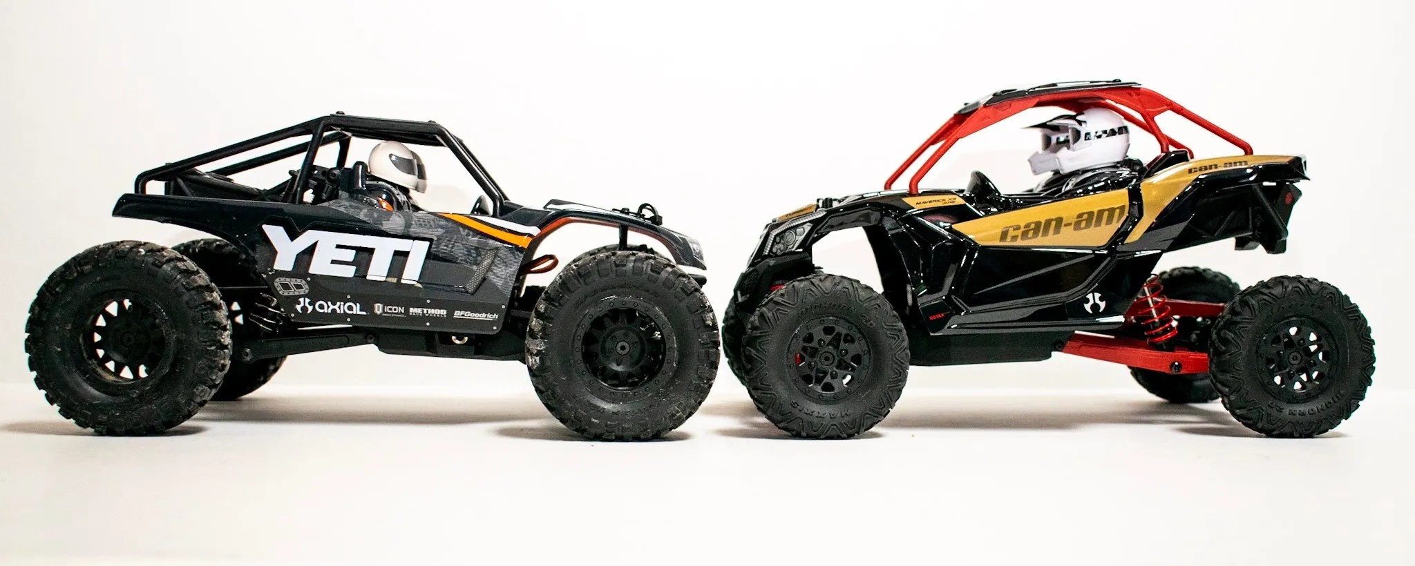 Axial Yeti Jr. Can-Am Maverick X3 - Comparison