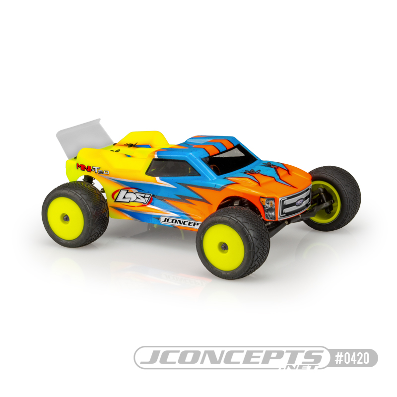 Drive Toward the Win with JConcepts Finnisher Body for the Losi Mini-T 2.0
