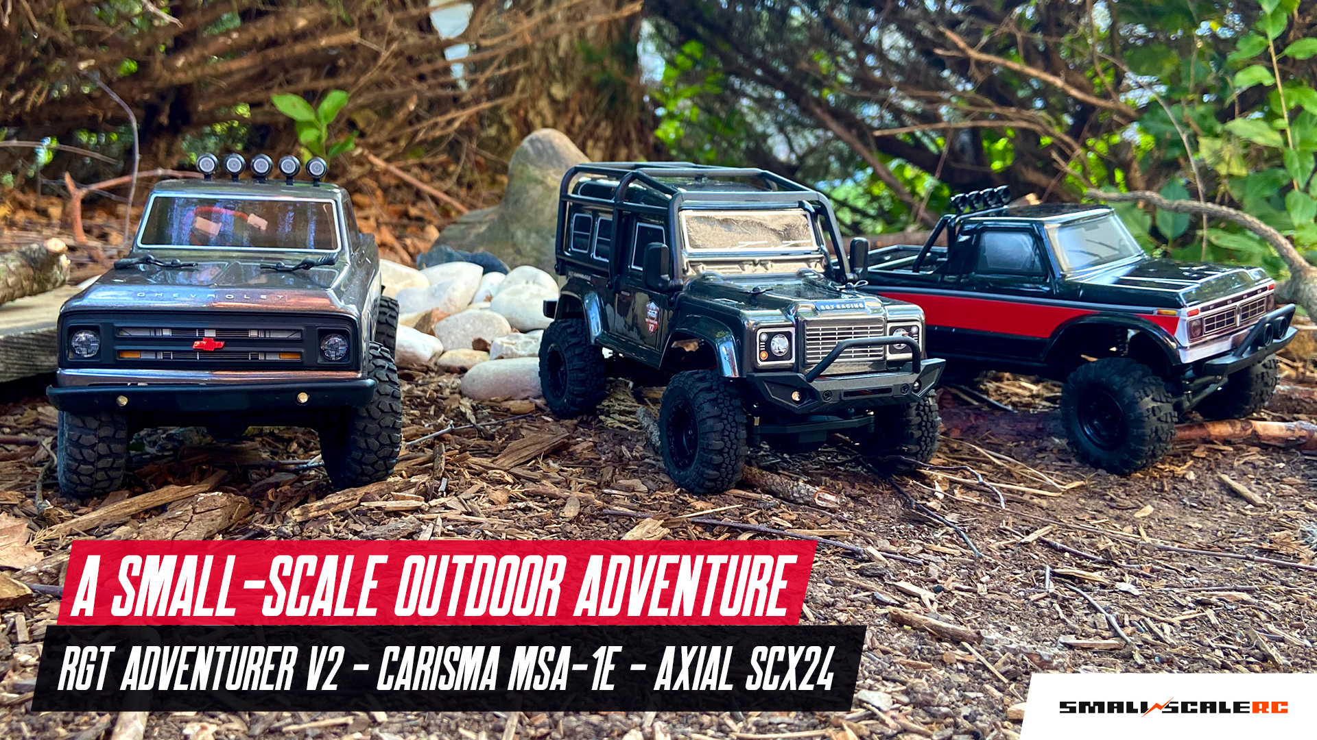 Let's Go Small-scale Crawling with Three 1/24-scale Rigs [Video]