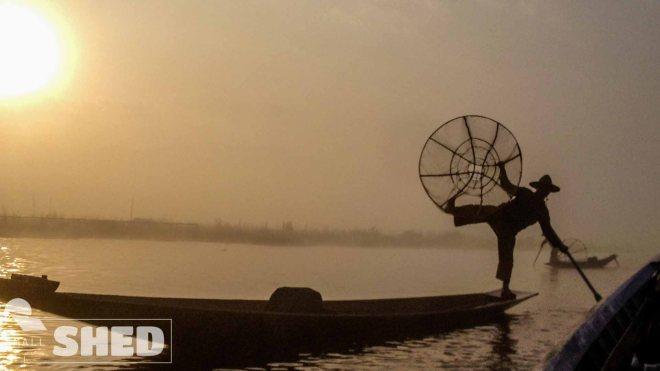 inle lake - fisher man - pescatore