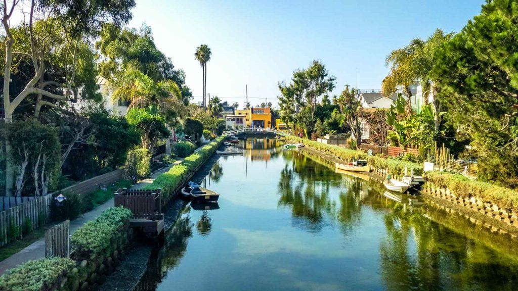 Canali visti da un ponte di Venice