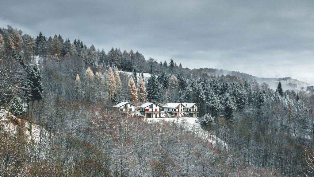 Scorcio del Mt. Mottarone scattato in inverno con Lumix G80 e lente Canon
