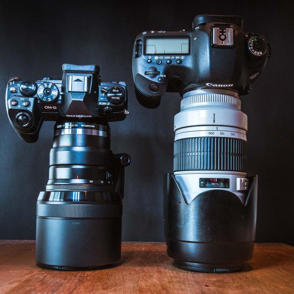Olympus OM-D E-M1 mkII con 40-150 mm f/2.8 VS Canon 5D mkIII con 70-200 mm f/2.8