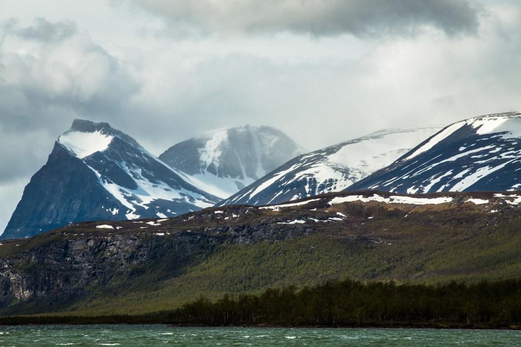 Veduta delle alpi svesi