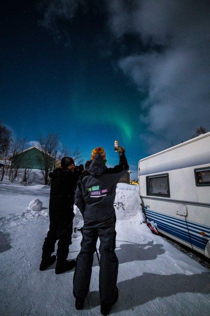 Brindisi sotto l'aurora boreale