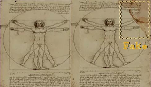 Academic Painting (Vitruvian Man by Leonardo Da Vinci)