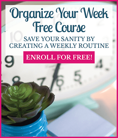 Take control of your schedule and organize your week with this free five-day course.