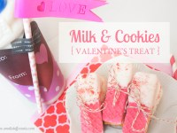 Milk & Cookies Valentine's Treat