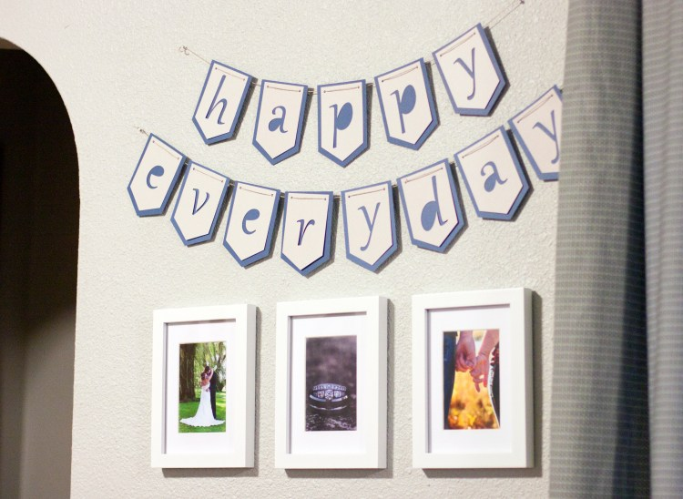 What a simple garland Silhouette project