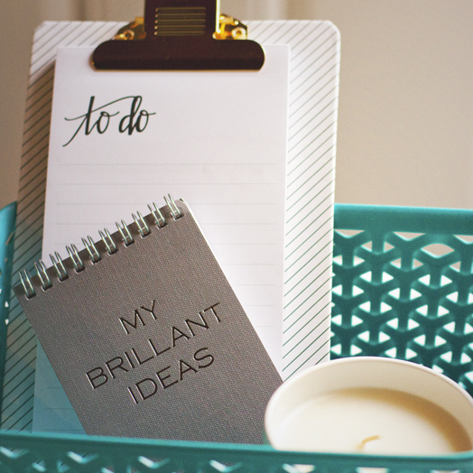 To Do List With Brilliant Idea Notebook