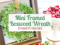 How to DIY a mini framed boxwood wreath