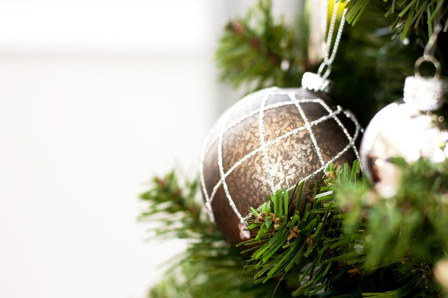 Christmas 2015 Brown Glitter Ornament