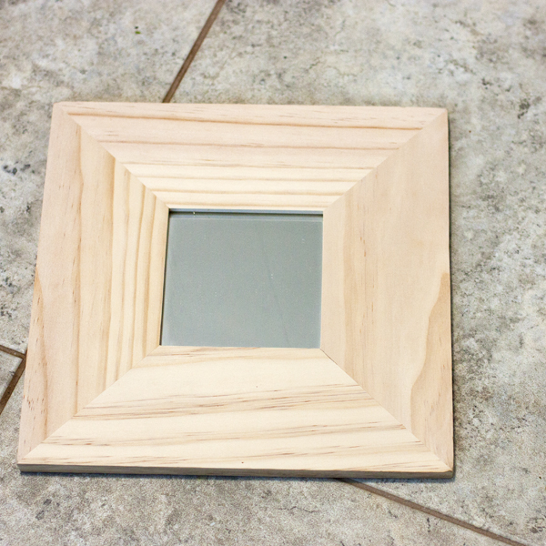 Thrift Store Swap Holiday 2015 Wood Mirror