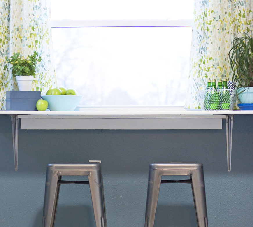 How To Install A Diy Breakfast Counter Under Window Small Stuff Counts