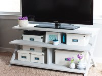 From Dark To Light: A Painted TV Stand Makeover Using Chalk Paint