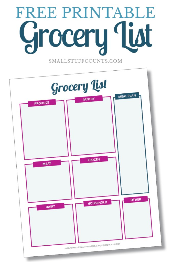 An organized grocery list makes shopping so much easier! Check out this pretty printable. Click through to the blog post to download the free printable!