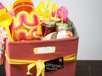 A Colorful DIY Lemonade Gift Basket
