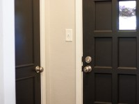Painting Interior Doors Black & Adding New Hardware – A Classy Door Makeover