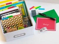 A DIY Greeting Card Organizer