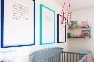 diy-picture-frames-in-nursery