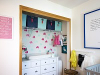Organizing A Nursery Closet & Using A Dresser As A Changing Table