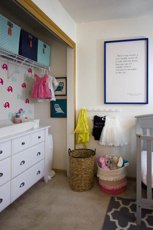 white-dresser-in-a-colorful-nursery