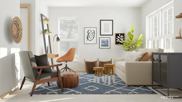 modern-living-room-with-blue-rug-and-desk