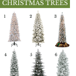 6 slim flocked christmas trees