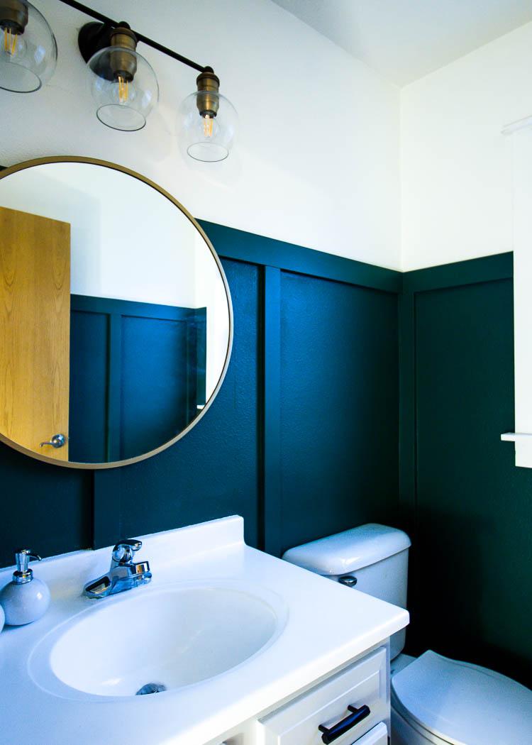 green-bathroom-white-vanity