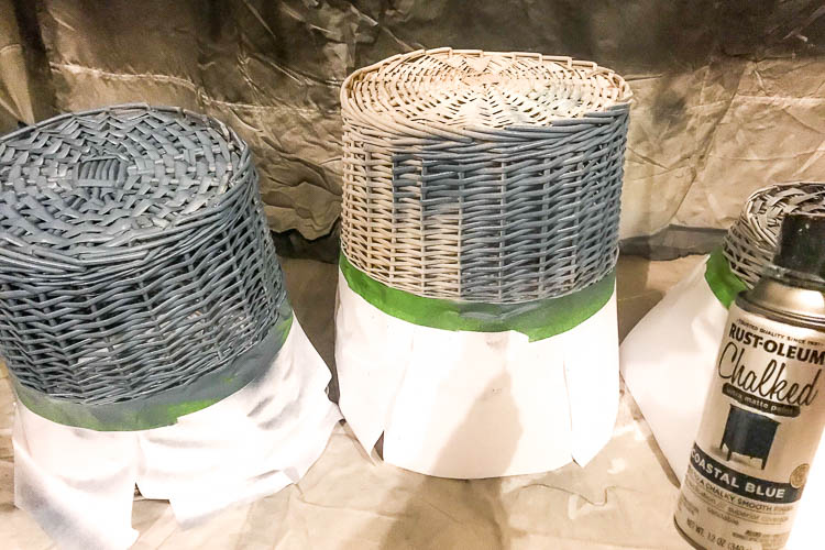 painting-blue-on-bottom-half-of-two-baskets