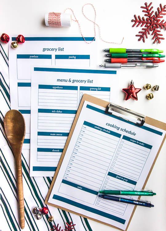 christmas-meal-planning-printables-on-table