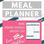 holiday meal planner and text description