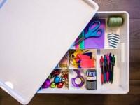 An Organized Wrapping Paper Storage Bin
