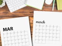 Free March 2020 Calendar Printables | Sunday And Monday Start
